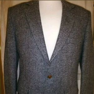 Harris Tweed  100% Wool Blazer Sports Coat Jacket